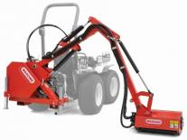 Compact tractor boom mower